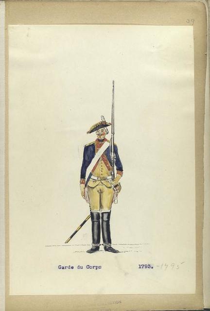 Garde du Corps. 1793-1795