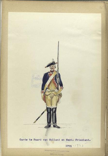 Garde te Paard van Holland en West-Friesland. 1775-1795