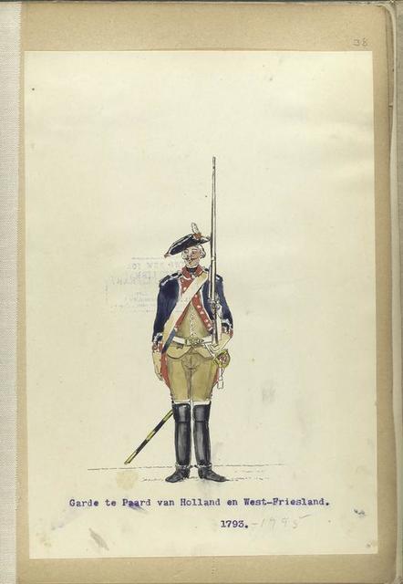 Garde te Paard van Holland en West-Friesland. 1793-1795