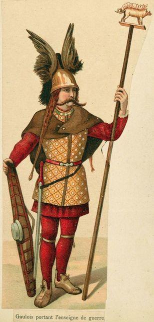 Gaulois portant l'enseigne de guerre.