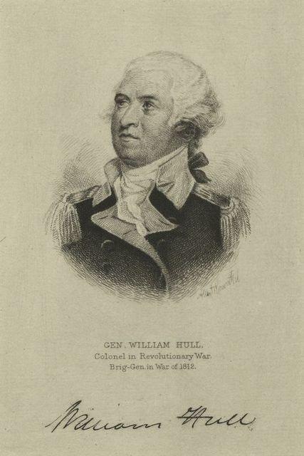 General William Hull, colonel in Revolutionary War, brig-gen. in War of 1812.