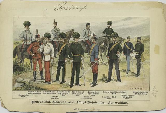 Generalität, General und Flügel Adjutanten, Generalstab
