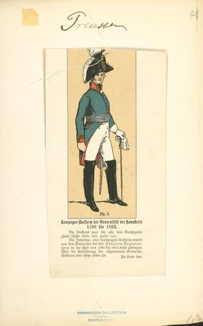Germany, Prussia, 1800-1805