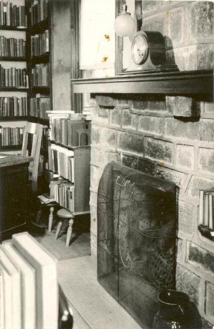 [Great Kills, Fireplace and shelves.]