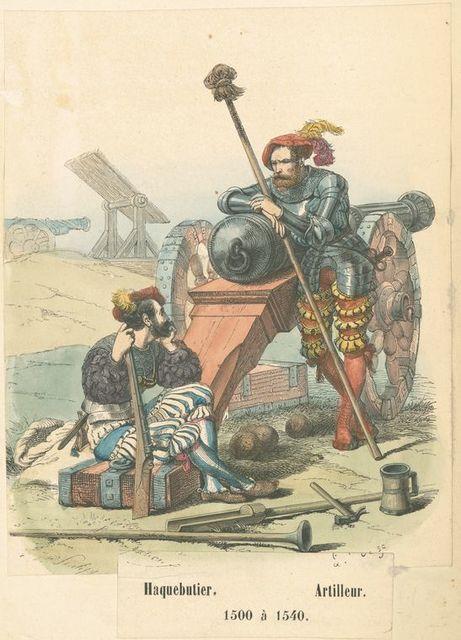 Haquebutier, artilleur.