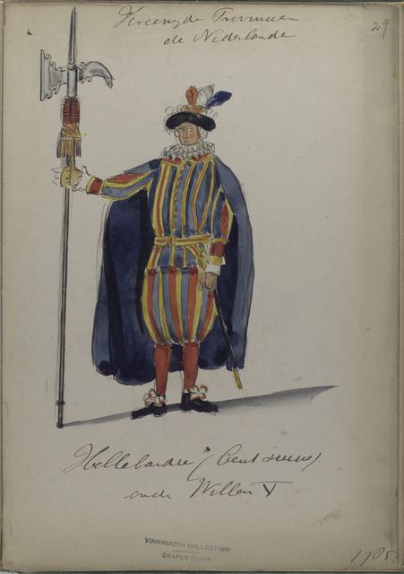 Hellebaardier (Cent Suisse) onder Willem V. 1785