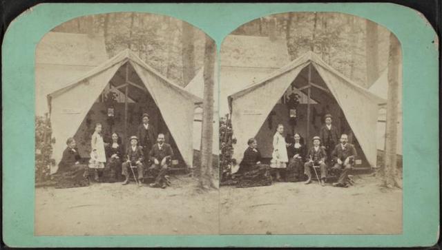 Hepworths tent, Trenton Camp Ground.