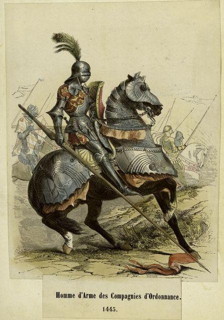 Homme d'arme des compagnies d'ordannance, 1445.