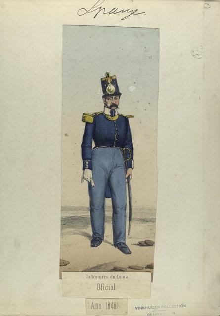 Infanteria de linea. Oficial. 1846.