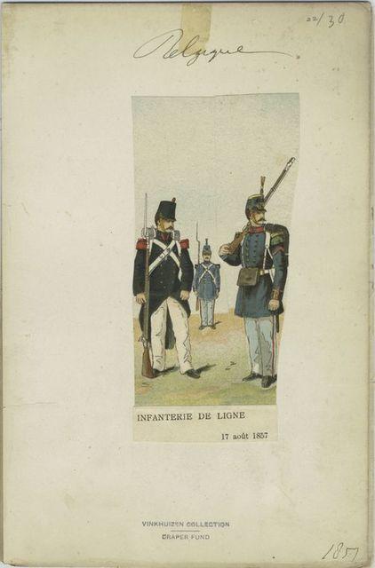 Infanterie de ligne. 1857