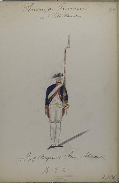 Infanterie Regiment Lewe van Aduard, R.no. 2. 1784