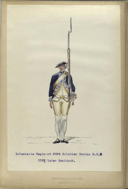 Infanterie Regiment No. 24 Schotten Dundas  R. S. [N24]. 1783 later Bentinck.