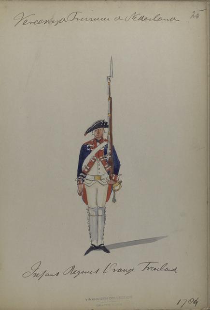 Infanterie Regiment Oranje Friesland. 1784