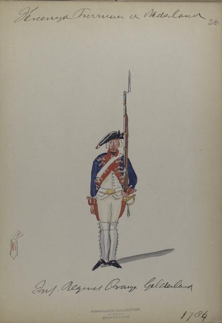 Infanterie Regiment Oranje Gelderland. 1784