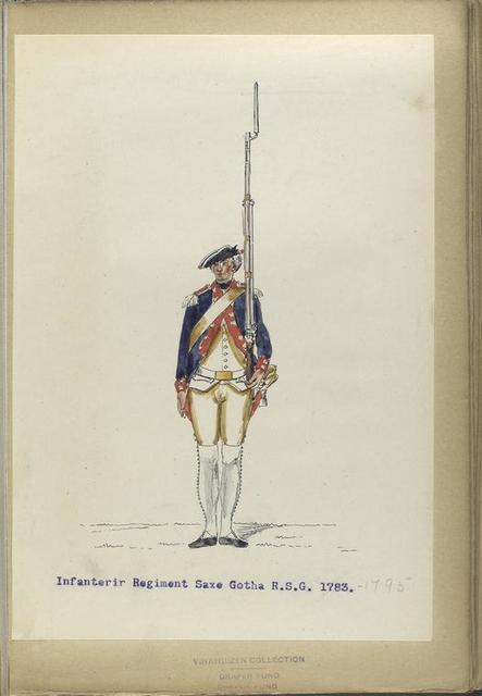 Infanterie Regiment Saxe Gotha  R. S. G. 1783-1795