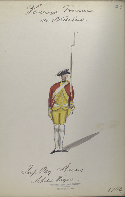 Infanterie Regiment Stuart, Schotsch Brigade. 1784