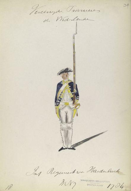 Infanterie Regiment van Hardenbroeck,  R. no. 7. 1784