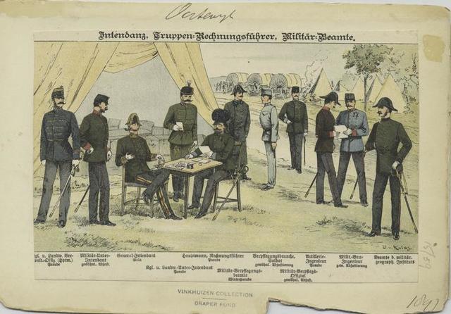 Intendanz, Truppen:Rechnungsführer, Militär:Beamte