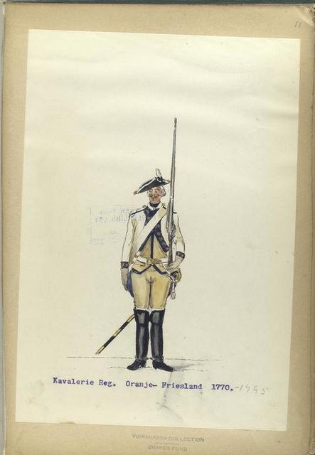 Kavalerie Reg,. Oranje-Friesland. 1770-1795