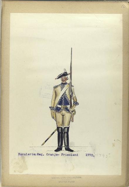 Kavalerie Reg,. Oranje-Friesland. 1772-1795