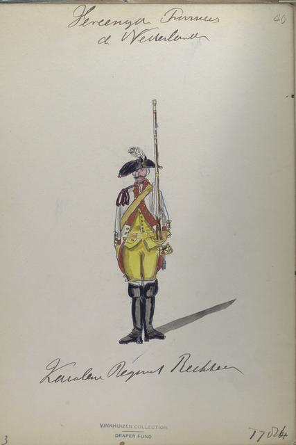 Kavalerie Regiment Rechteren. 1784