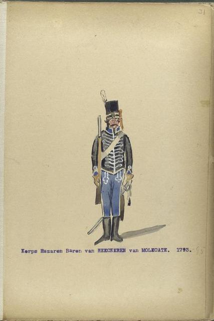 Korps Huzaren Baron van Heeckeren van Molecate. 1793-1795