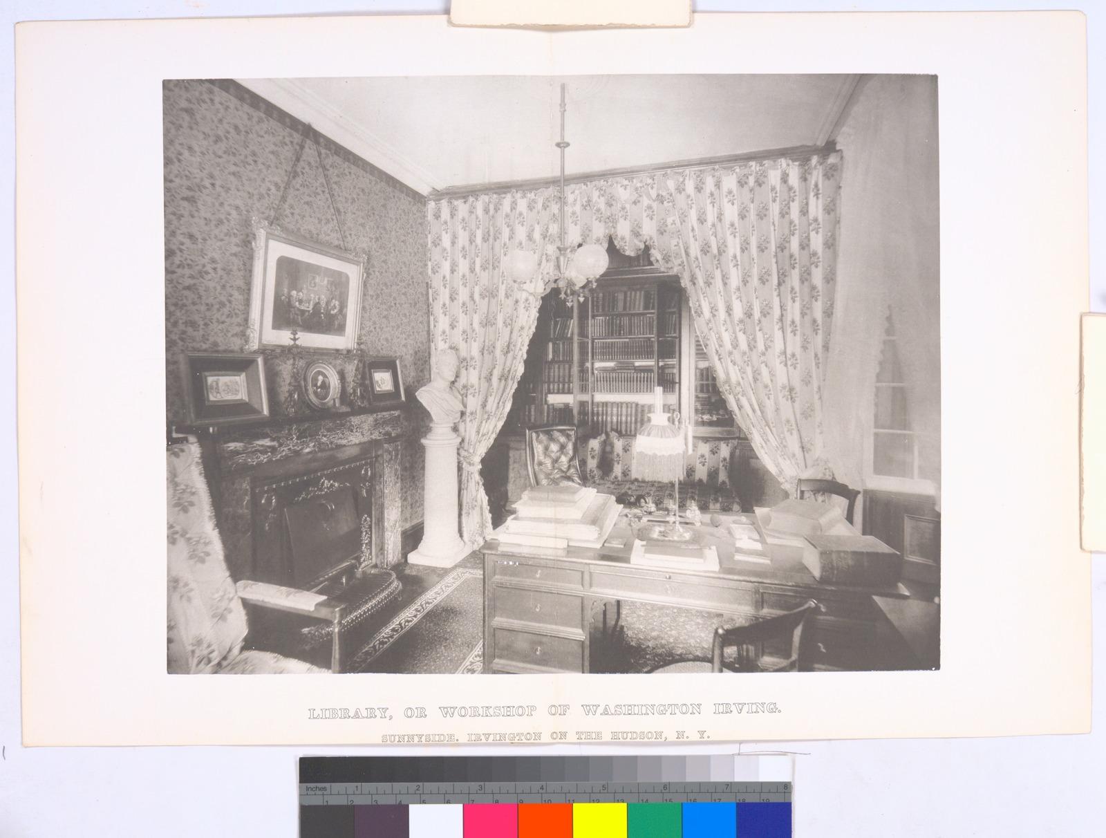 Library, or workshop of Washington Irving. Sunnyside, Irvingston on the Hudson, N.Y.