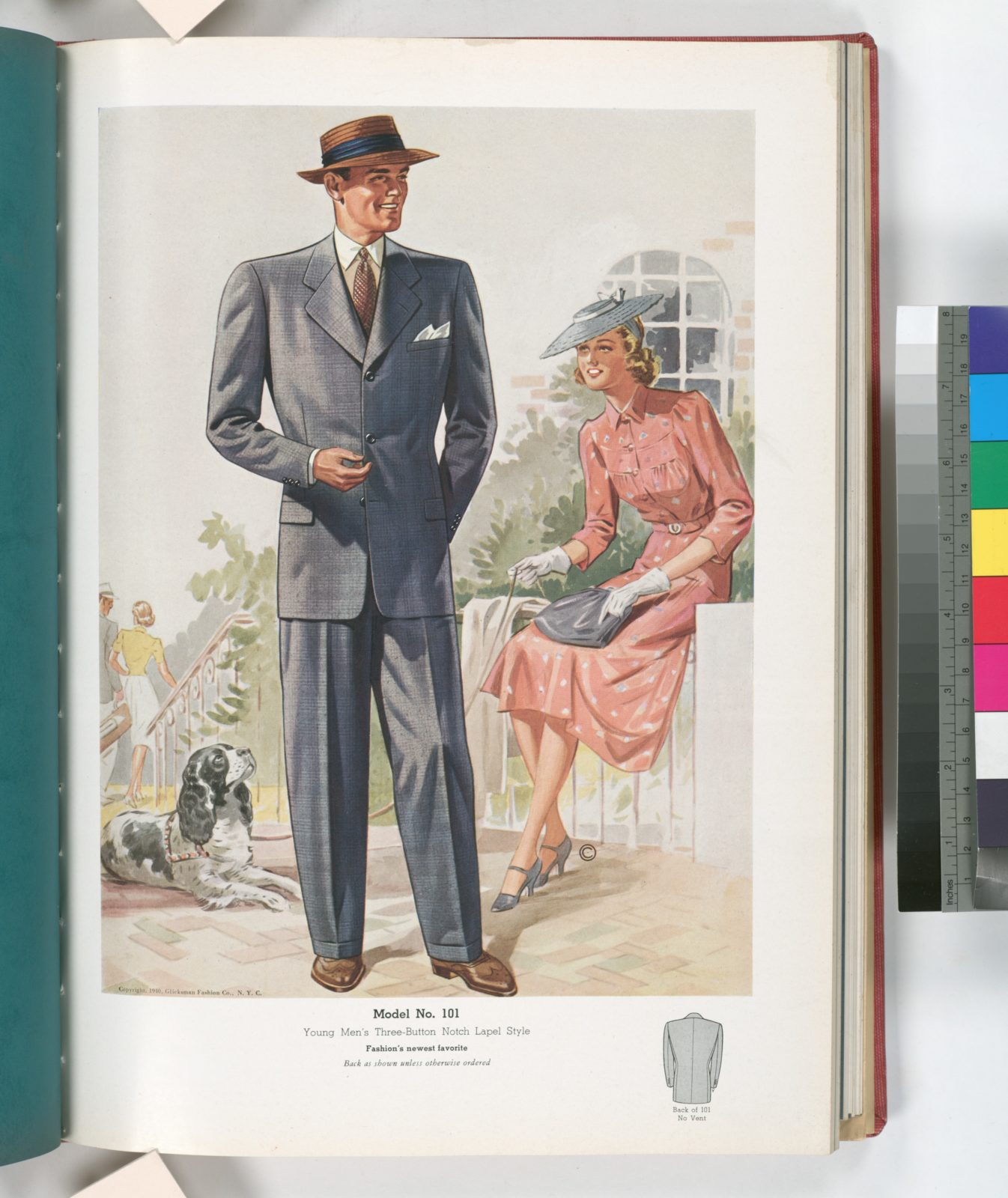 Model No. 101. Young men's three-button notch lapel style.