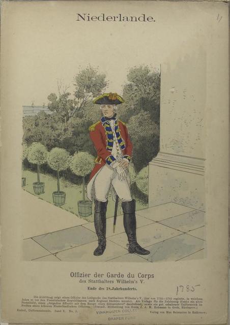 Officier der Garde du Corps des Statthalters Wilhelm's V. 1785