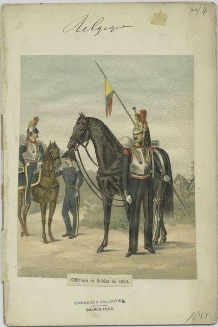 Officiers et Soldat en 1853.