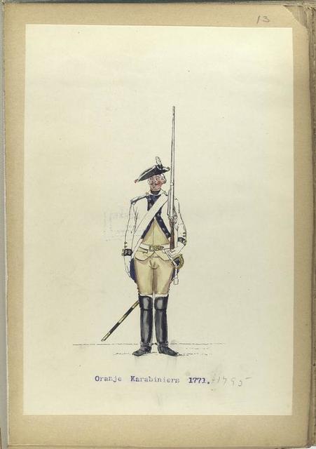 Oranje Karabiniers. 1771-1795