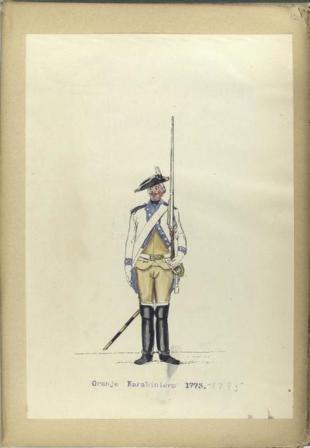 Oranje Karabiniers. 1773-1795