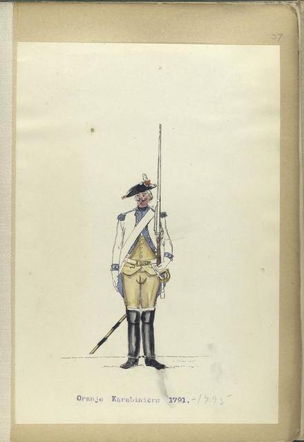 Oranje Karabiniers. 1791-1795