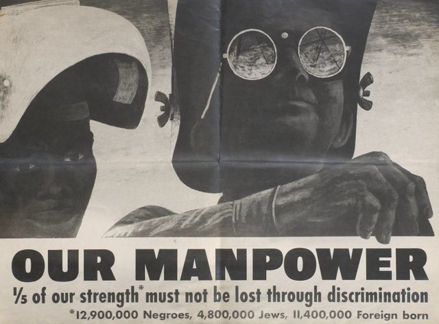 Our manpower: Poster, designed by Ben Shahn.