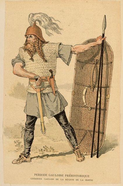 Periode Gauloise Préhistorique : guerrier Gaulois de la région de la Marne.