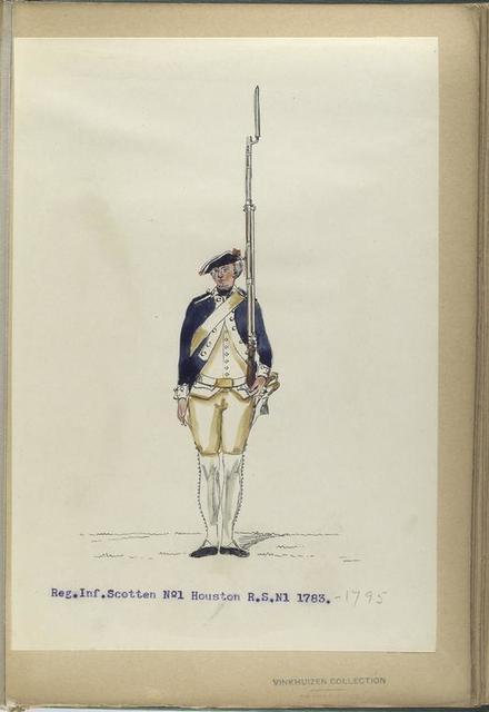 Reg. Inf. Scotten No. 1 Houston  R. S. N1. 1783- 1795