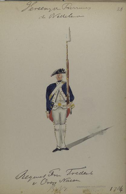 Regiment Prins Frederik van Oranje Nassau, R. no. 1. 1784