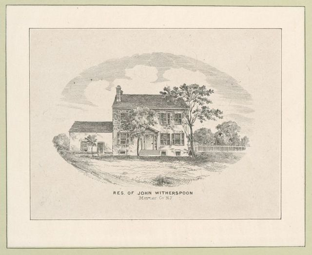 Res. of John Witherspoon, Mercer Co., N.J.