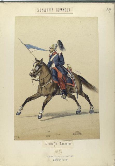 Santiago. (Lanceros). 1859