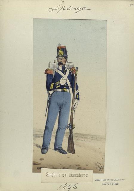 Sargento de Granaderos. 1846