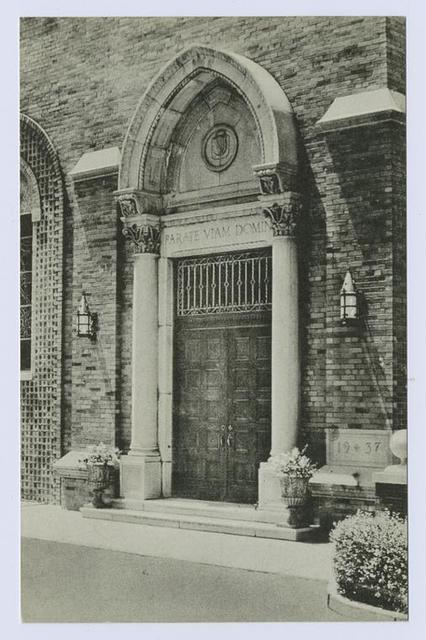 St. John's Villa Academy  [appears to be door to chapel]