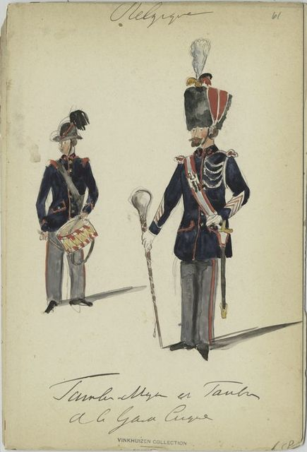 Tambor Major et Tambor de la Garde civique. 1881