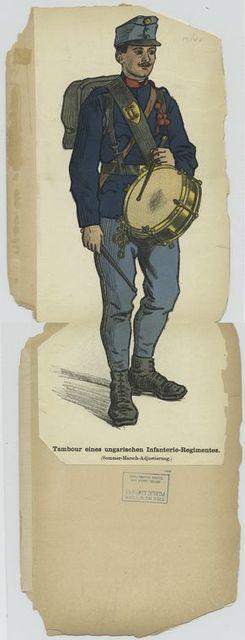 Tambour eines ungarischen Infanterie-Regimentes (Sommer-Marsch-Adjustierung)