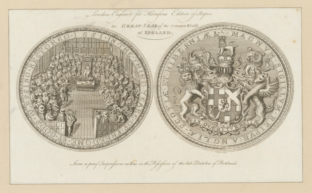 The great seal of the Common Wealth of England.