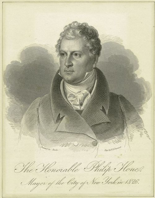 The honorable Philip Hone, mayor of the City of New York in 1826