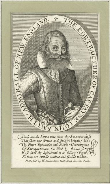 The portraictuer of Captayne John Smith, Admirall of New England.