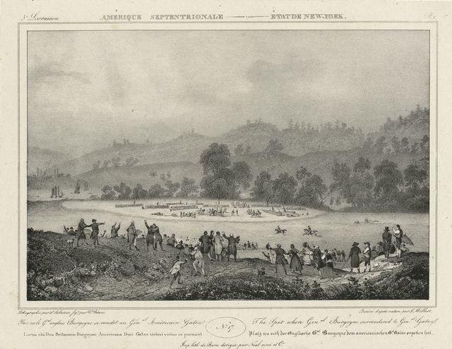 The spot where Genal. Burgoyne surrendered to Genal. Gates.