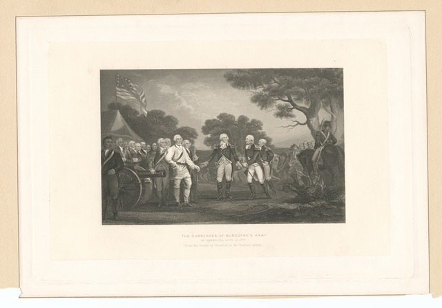 The surrender of Burgoyne's army at Saratoga Octr. 17, 1777.