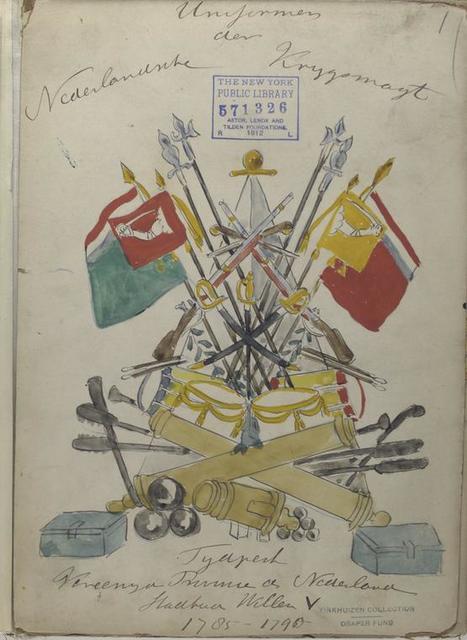 Title pages] Uniformes der Nederlandsche Krijgsmaijt tijdperk Vereenigde Provincien der Nederland, [...] Willem V. 1785-1790.