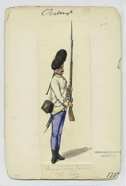 Ungarischer Grenadier Rgt. Prosz. 1778